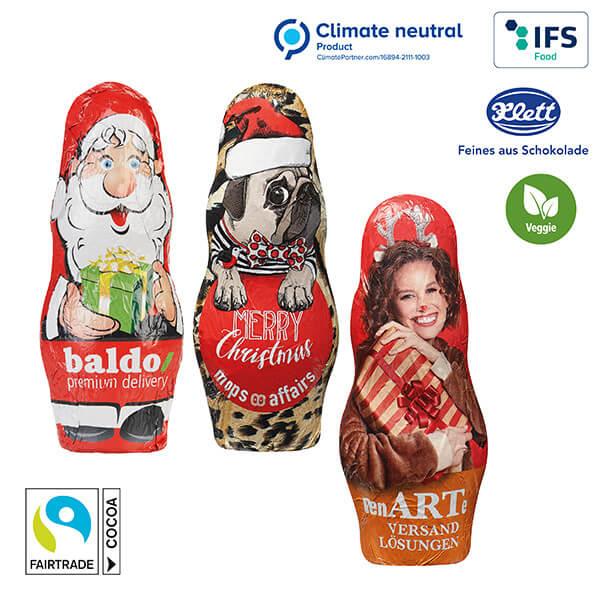 Père Noël en chocolat MIDI