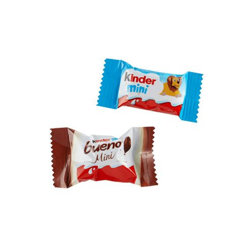 kinder Chocolate Mini or 1 Kinder Bueno Mini, best before 3 months