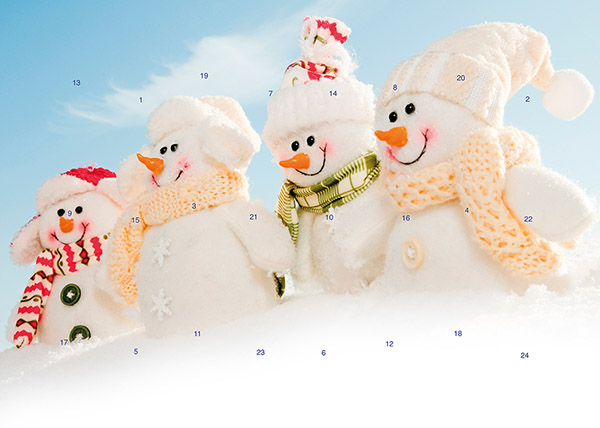 Cheerful snowmen M029
