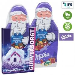 Milka Santa Claus Bar in a carton sleeve