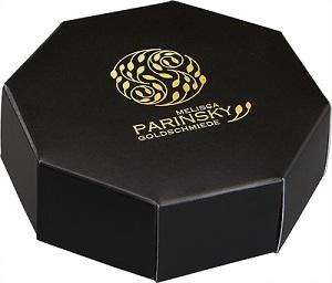 Boîte cadeau, noire