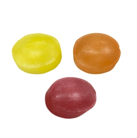 Kalfany fruit candies (lemon, orange, black currant)