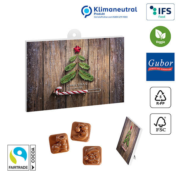A5 Chocolate Advent Calendar BASIC - without imprint