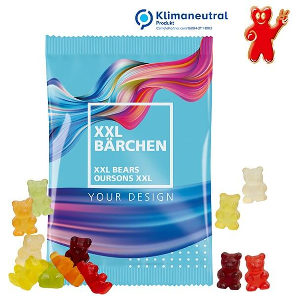 Oursons XXL en gommes de fruits, 100 g