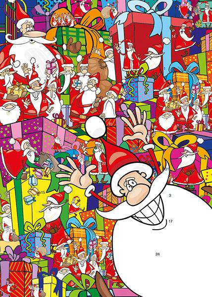 Lustige Weihnachtsmänner M061